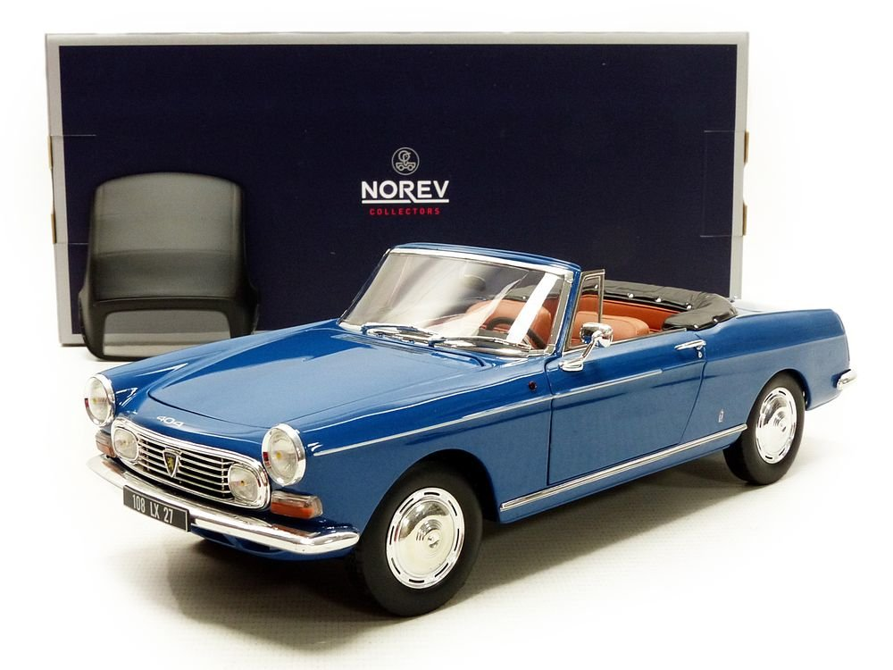 Norev-404 Cabriolet 1967 Peugeot V/éhicule Miniature Bleu Echelle 1//18 184832