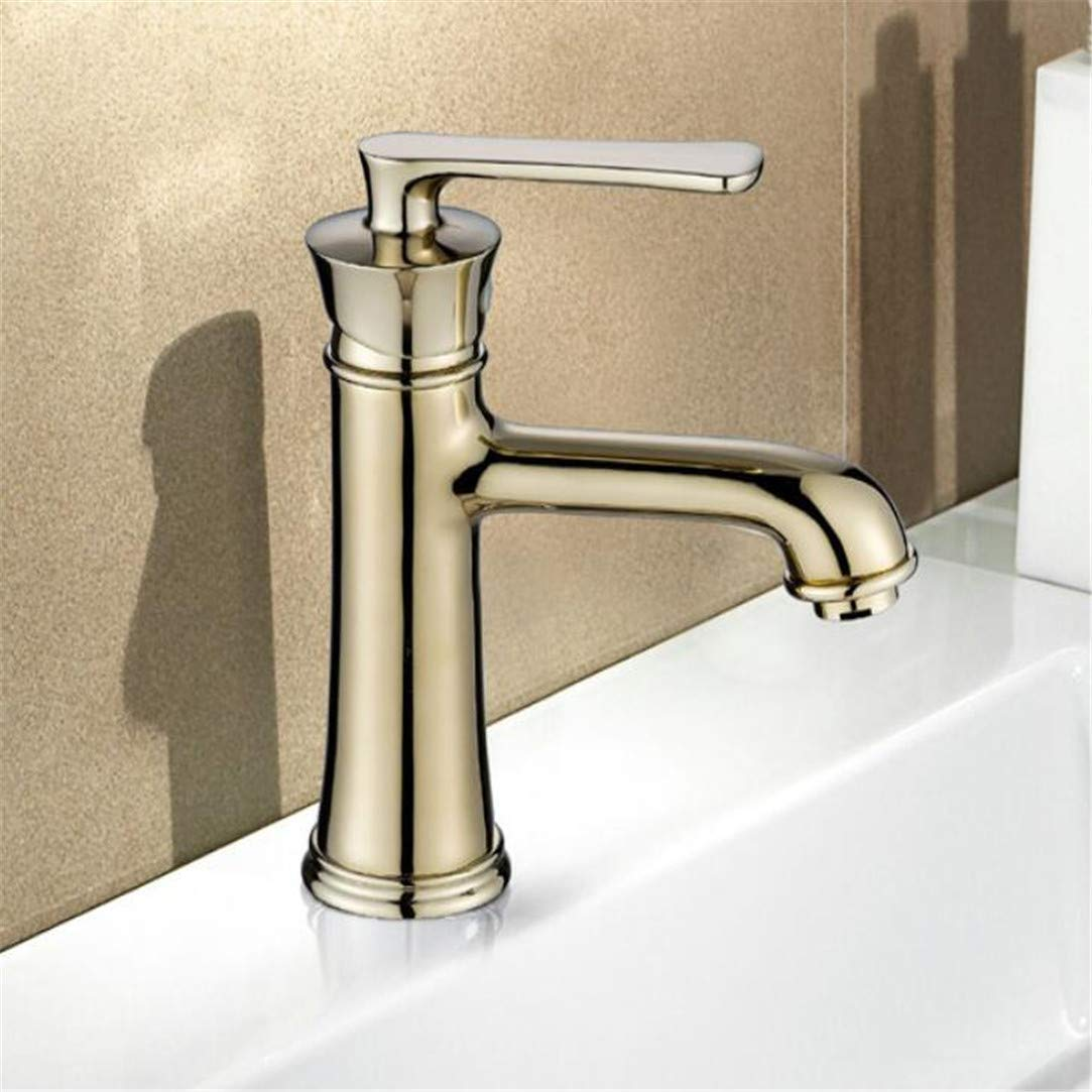 Faucet Washbasin Mixer Brass Made Chrome gold Faucet Sink Mixer Tap Vanity Faucet Single Handle Hot and Cold Basin Faucets