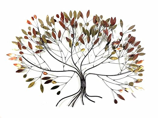 new metal wall art picture or sculpture u2013 large autum leaves