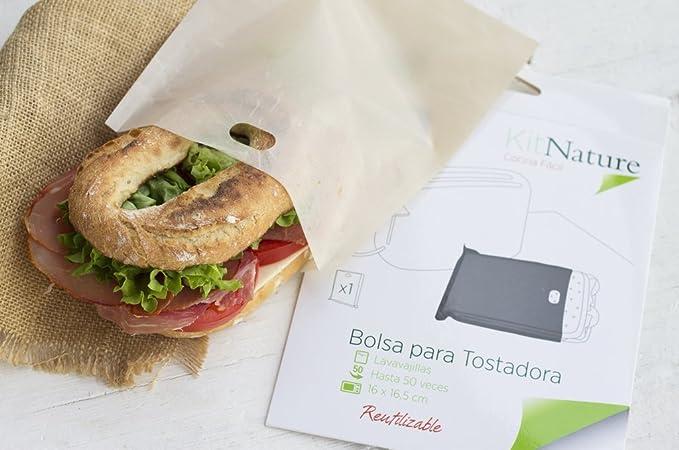 Kit Nature Bolsa para Tostadora | Tamaño Sandwich 16 x 16,5 ...