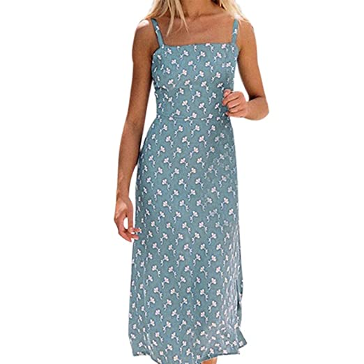 1424fd65 RAISINGTOP Women's Dresses Vacation Summer Dress Elegant Sleeveless Shift  Dress Sundress Casual Beach Sling Mini Skirt