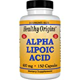 Healthy Origins, Acide alpha lipoïque, 600 mg, 150 Capsules