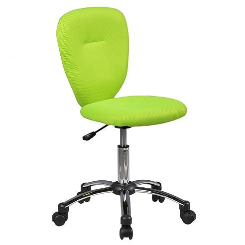 Kinderschreibtischstuhl grün  Amstyle Kinder-Schreibtischstuhl ANNA für Kinder ab 6 mit Lehne ...