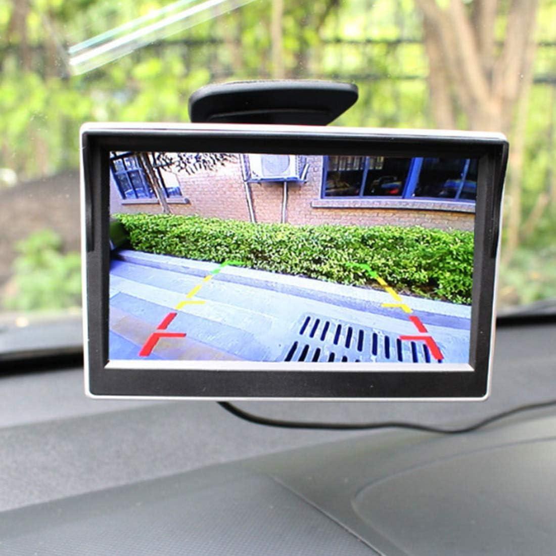 Parkassistenz-Monitor Bclaer72 5-Zoll-TFT-LCD-Auto-Monitor 800 480 Auto-R/ückfahr-R/ückfahr-Auto-Monitor mit LED-Hintergrundbeleuchtung f/ür Kfz-R/ückfahrkameras