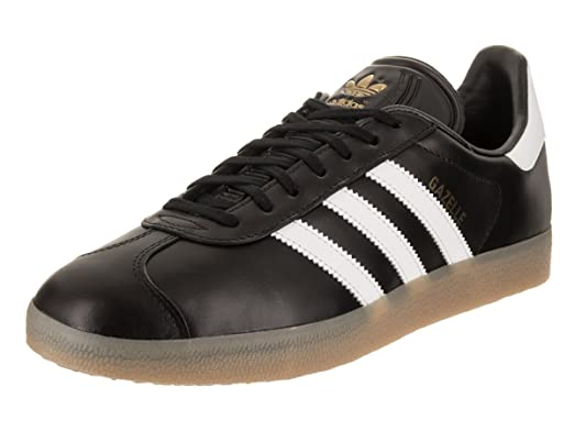 Gazelle Mens in Core Black/White/Gold by Adidas, 7