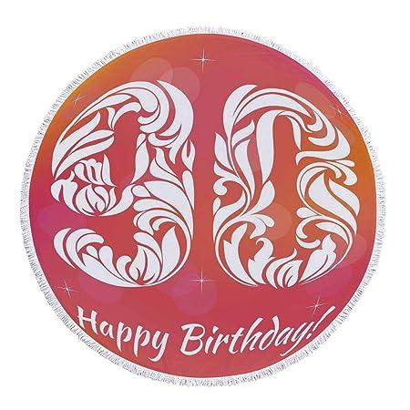 YOLIYANA 90 cumpleaños Decoraciones Fresco y Dulce Redondo ...