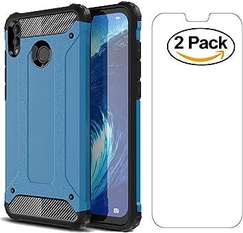 AOYIY Estuche de Batalla 2 en 1 Paquete de 2 Protectores de Pantalla, 360 Proteja su teléfono Inteligente con el Estuche Xiaomi Redmi Note 6 Pro Funda -Azul: Amazon.es: Electrónica