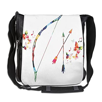 best Lovebbag Abstract Unusual Bow And Arrow With Butterflies Music Notes Floral Design Crossbody Messenger Bag