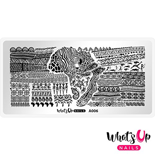 Whats Up Nails - A006 A Walk on the Wild Side Stamping Plate for Nail Art Design