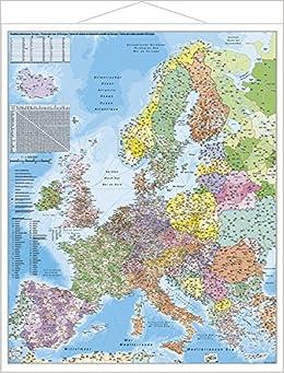 Postleitzahlen Karte.Europa Postleitzahlenkarte Amazon De Stiefel Eurocart Bücher