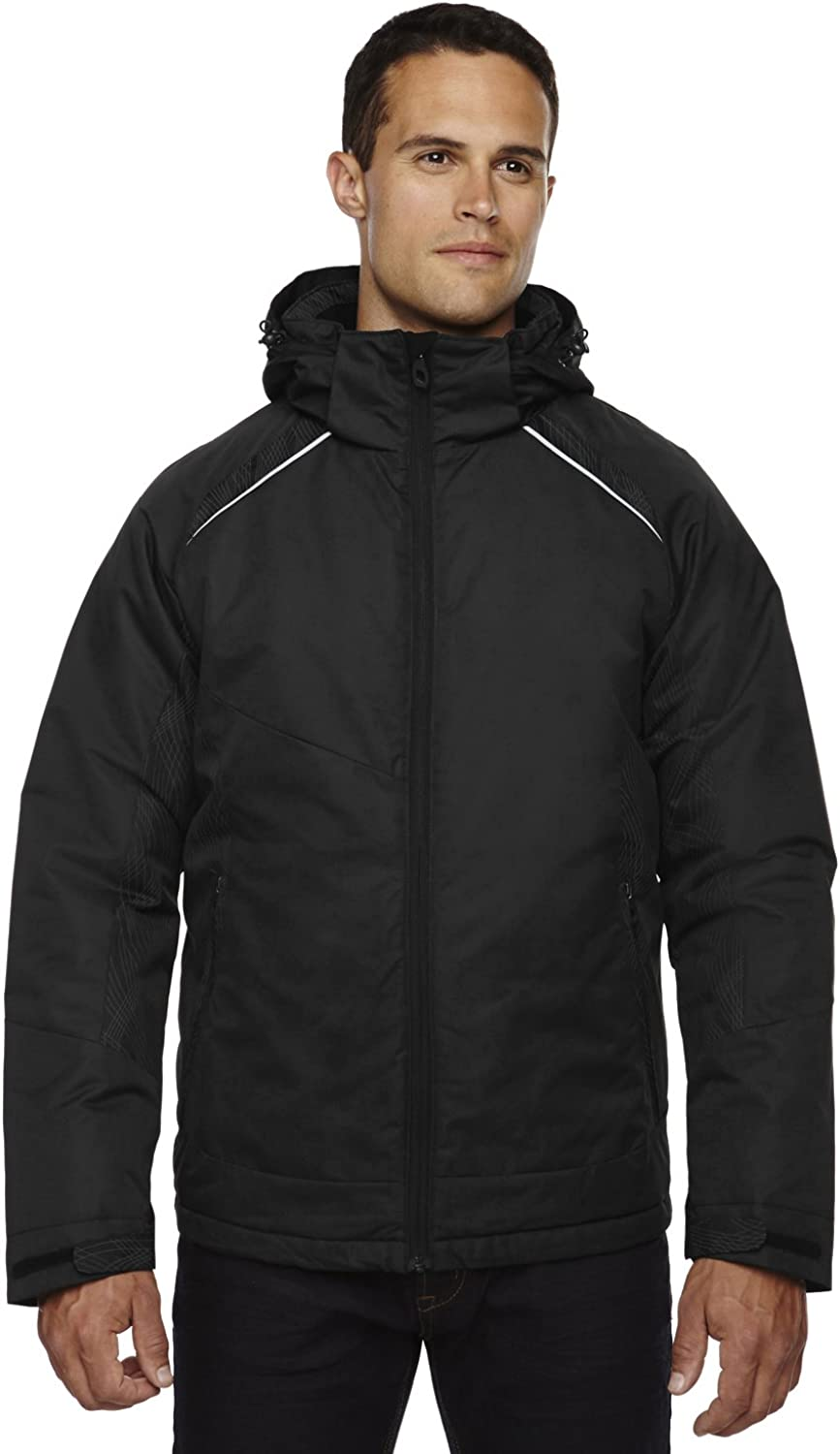 North End Mens Linear Insulated Jackets With Print (88197) -BLACK 703 -3XL