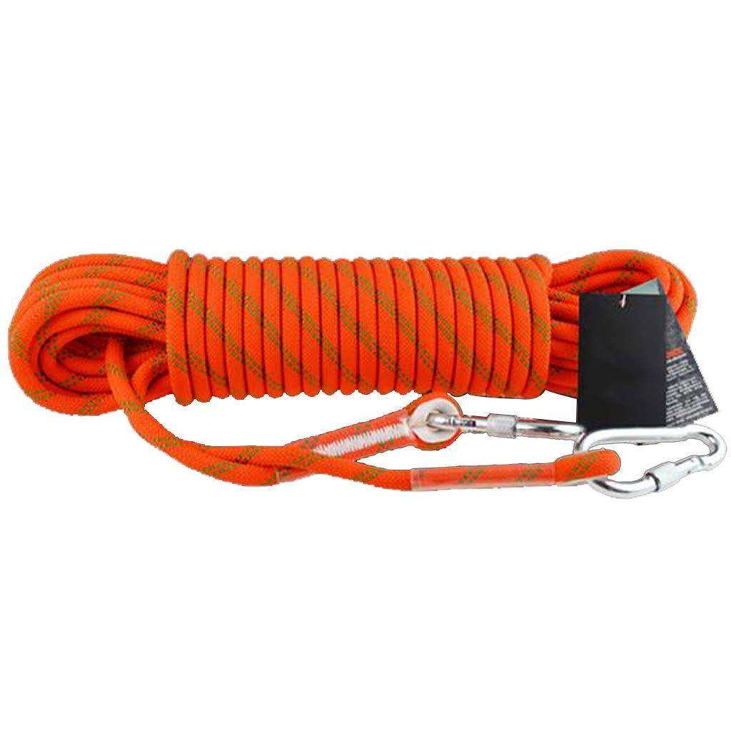 Orange DLYDSS Corde d'escalade, Corde de sécurité extérieure, Travail sur Corde, diamètre 14 mm, Alpinisme, attachée, Corde de Sauvetage extérieur 80m