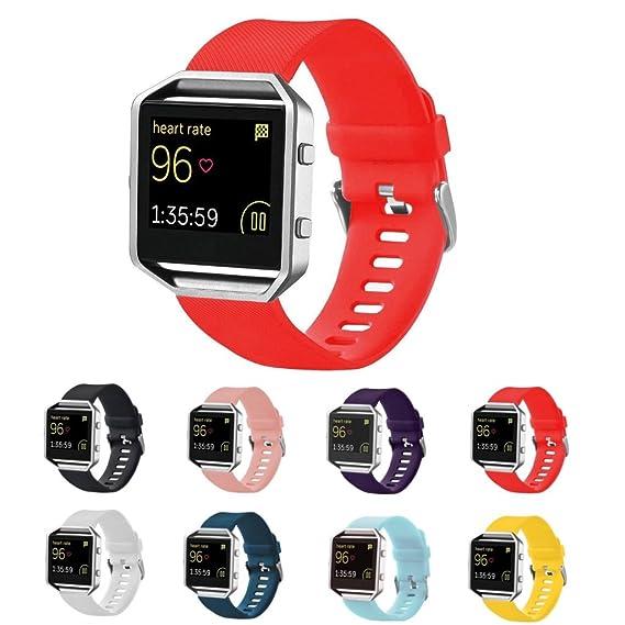 StrapsCo correa de reloj banda de silicona para Fitbit alta av255sma