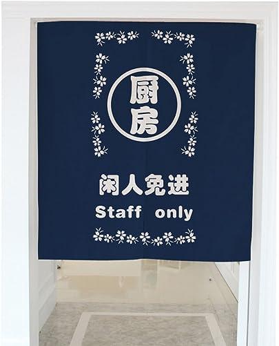 Zegoo Staff only Heavyweight Cotton Linen Kitchen Doorway Home Decoration 33.5 x59.1