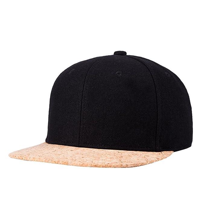 LINNUO Cappellini da Baseball Berretto Snapback cap Cappello Regolabile  Hip-Hop Hats Piatto Uomo Donna 960a306a1cde