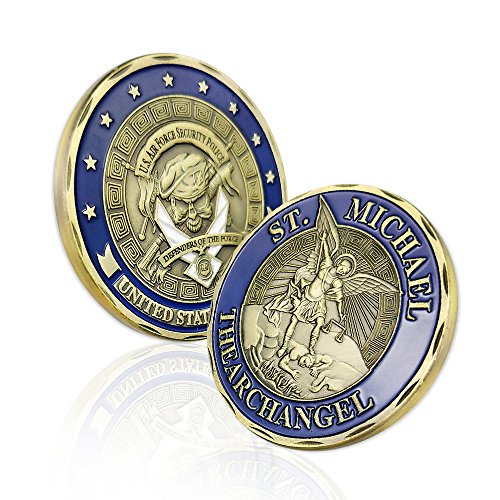 AtSKnSK USAF Saint Michael US Air Force Security Police Challenge Coin Commemorative Gifts for Airman