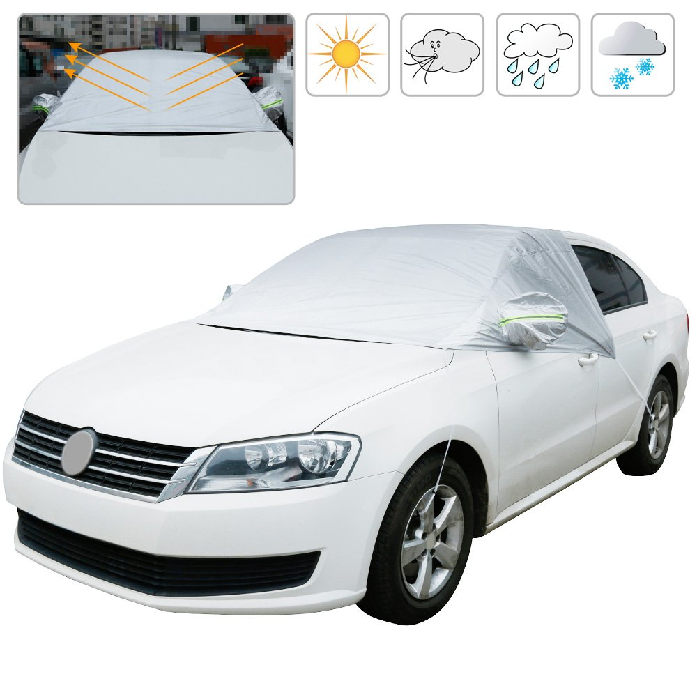 Amazoncom Anpro Car Windshield Snow Cover And Sun Shade Protect