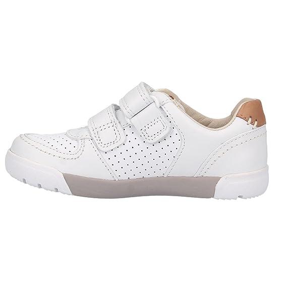 CLARKS Baskets 26133443 Mini EXRA Blanc (31, Blanc)