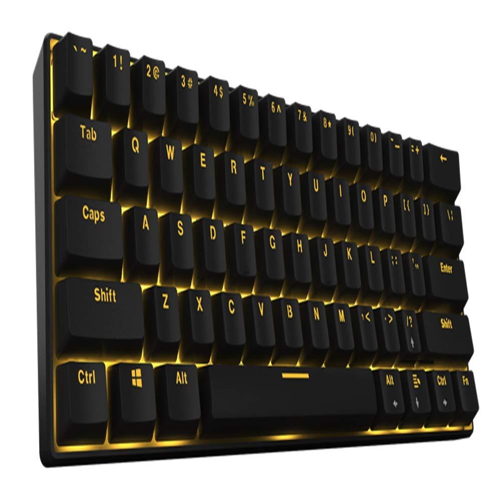 Emkoe スタイリッシュなポータブルブルートゥースキーボードワイヤレス接続ゲームメカニカルキーボードfor Windows 2000 / XP/Vista / 7/8/10およびMac互換 うまく設計された (Color : Black with black switch) B07RHN6CQ1