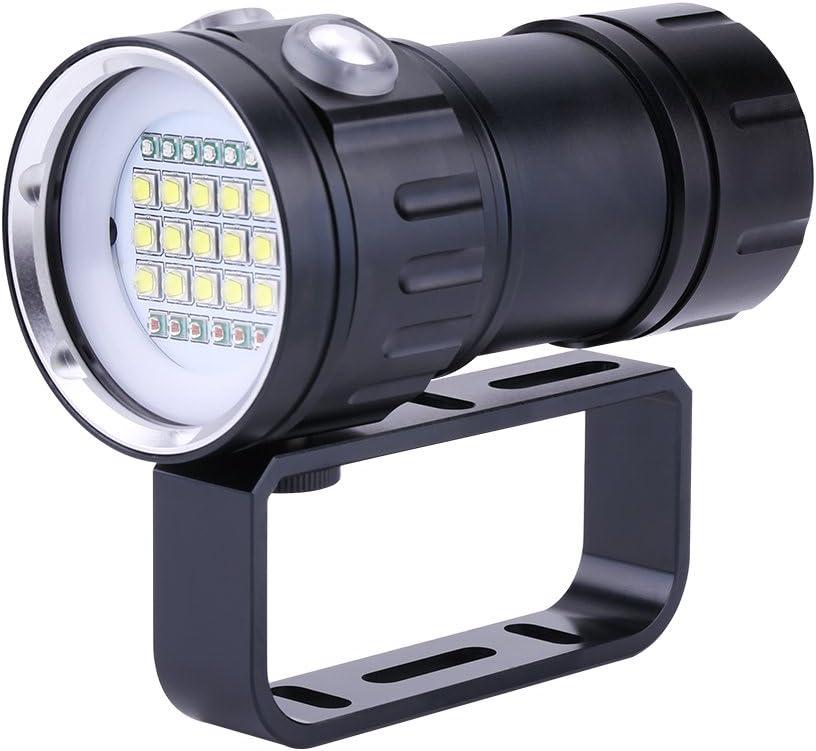 Pro LED Scuba Diving Flashlight Underwater Dive Light Lamp Torch Super Bright