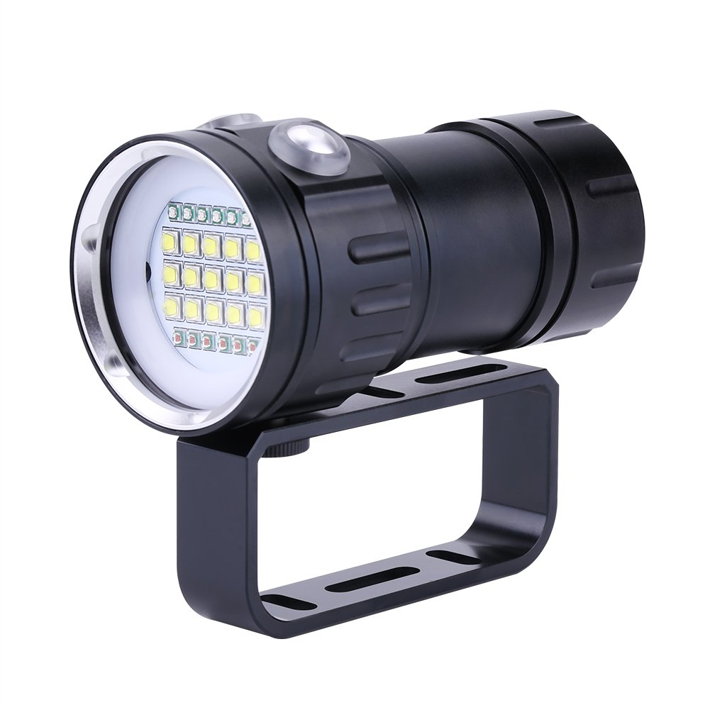 Aramox Diving Flashlight 18000 Lumen IPX8 Scuba Dive Lights 500M Underwater LED Flashlight Submersible Lights for Outdoor Under Water Sports by Aramox