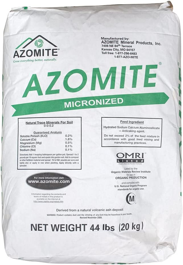 Raw Supply Azomite Organic Trace Mineral Powder-67 Essential Minerals for You & Your Garden Bag, 44 lb