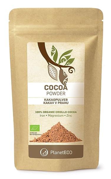 Planet Bio Cacao Bio en Polvo - 4 Paquetes de 150 gr - Total: 600