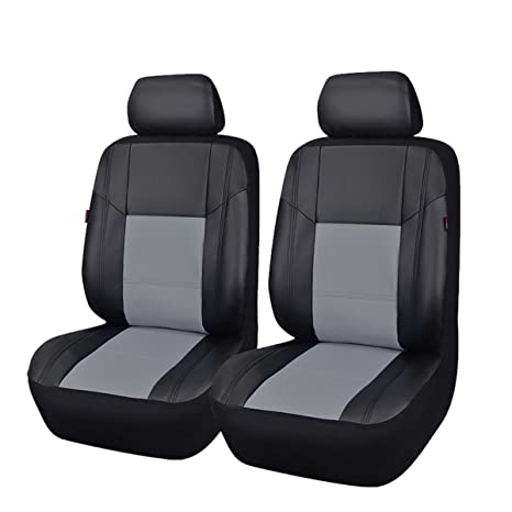 Marvelous New Arrival Car Pass Skyline Pu Leather Car Seat Covers Universal Fit For Cars Suv Vehicles 6Pcs Elegent Black With Gray Gmtry Best Dining Table And Chair Ideas Images Gmtryco