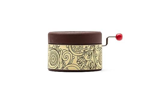 Caja de música color marrón chocolate con la canción que elijas ...