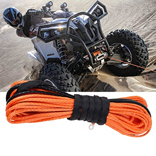 """Price comparison product image 3 / 16"""" x 50' Strong 5400 LBs Durable Synthetic Fiber Winch Rope Cable Car SUV ATV UTV (ORANGE)"""