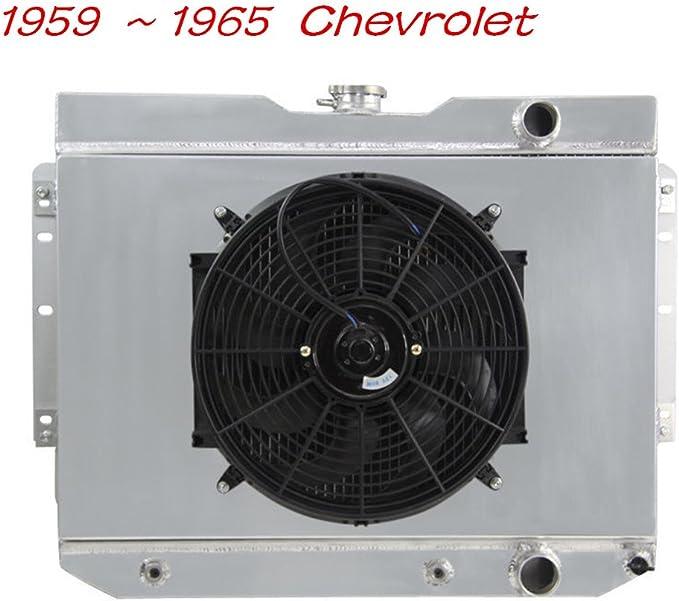 1959-1965 Chevy Biscayne NEW 3 ROWS ALUMINUM RADIATOR 59-65 Chevy Impala