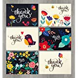 Amazon baby greeting cards cards card stock office 48 floral thank you cards bulk perfect for wedding engagement baby shower reheart Gallery