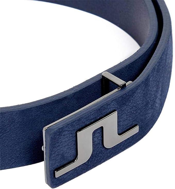 J.Lindeberg Mens Carter Brushed Leather Belt