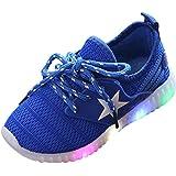 Zapatillas Niño Niña, JiaMeng Zapatillas Star Luminous Zapatos Ligeros Coloridos Casuales para niños