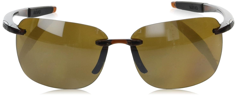 Revo Unisex RE 1070XL Descend Oversized Rectangular Polarized Sunglasses Crystal Frame Terra Lens Revo Sunglasses