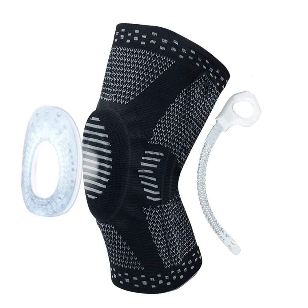 MacRoog Elastic Sports Knee Pad Unisex Knee Brace Non-Slip Basketball Gym Protect Wrap - 1 PCS