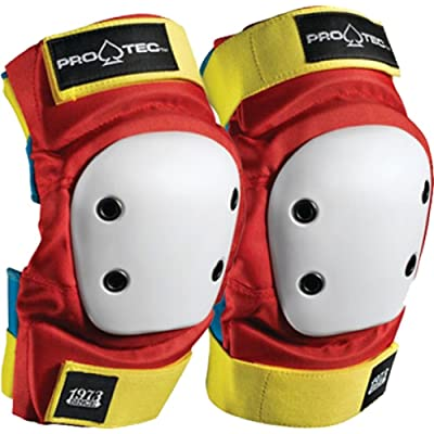 Pro-Tec Street Elbow Pads [Medium] Retro Red/Blue/Yellow : Skate And Skateboarding Elbow Pads : Sports & Outdoors
