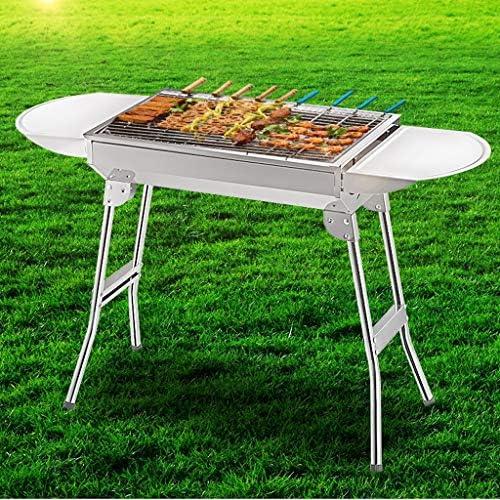 YF Portable Pliant Barbecue au Charbon Carbone Four en Acier Inoxydable Camping Pique-Nique Cuisinière, 48x33x57cm Outils de Barbecue (Size : A)