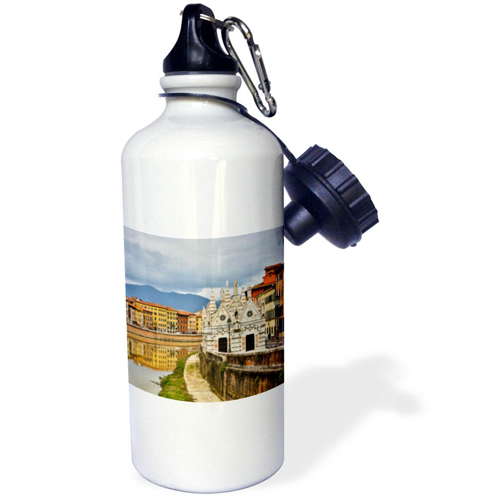 3dRose Danita Delimont - Cities - Italy, Pisa, View of the Arno River - 21 oz Sports Water Bottle (wb_277587_1)