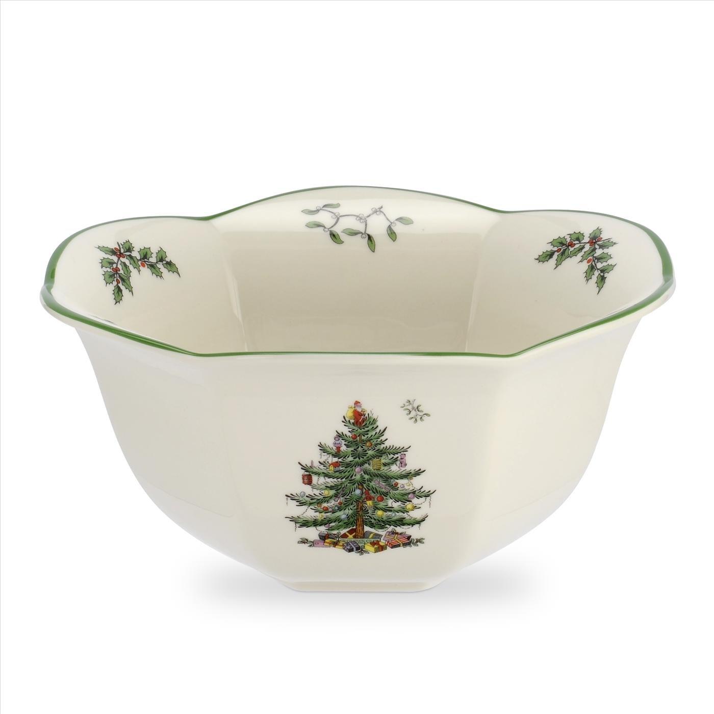 Spode Exclusive Christmas Tree Hexagonal Nut Bowl