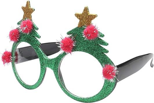 Toyvian Árbol de Navidad Gafas de Ojos Gafas innovadoras ...