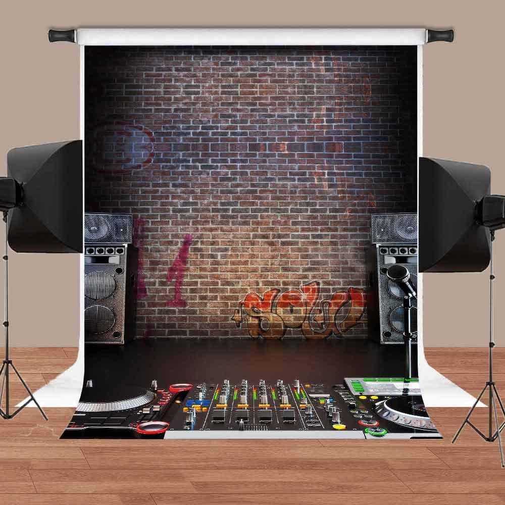 MEETS Backdrop 5x7ft Music Recording Studio Graffiti Brick Wall Photo Video  YouTube Studio Photography Background MT006