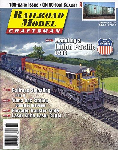 Craftsman Magazine Table - Railroad Model Craftsman (January 2016 - Union Pacific U30C)