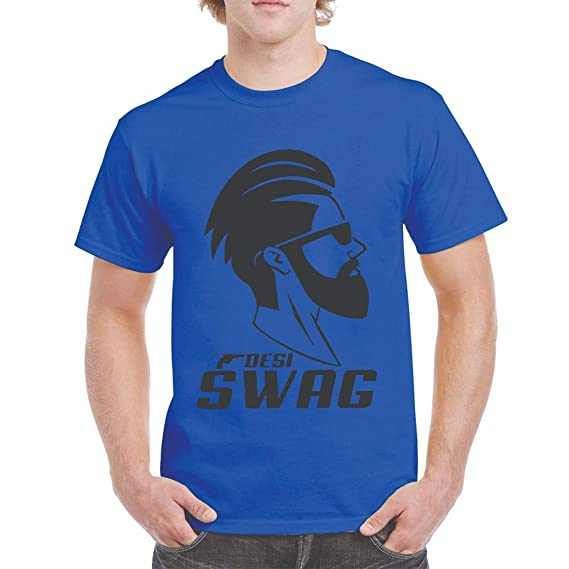 b0c6664779 COVOZO Men's DESI Swag MUNDA Gun Printed Round Neck 100% Cotton Half Sleeve  T-Shirt: Amazon.in: Clothing & Accessories