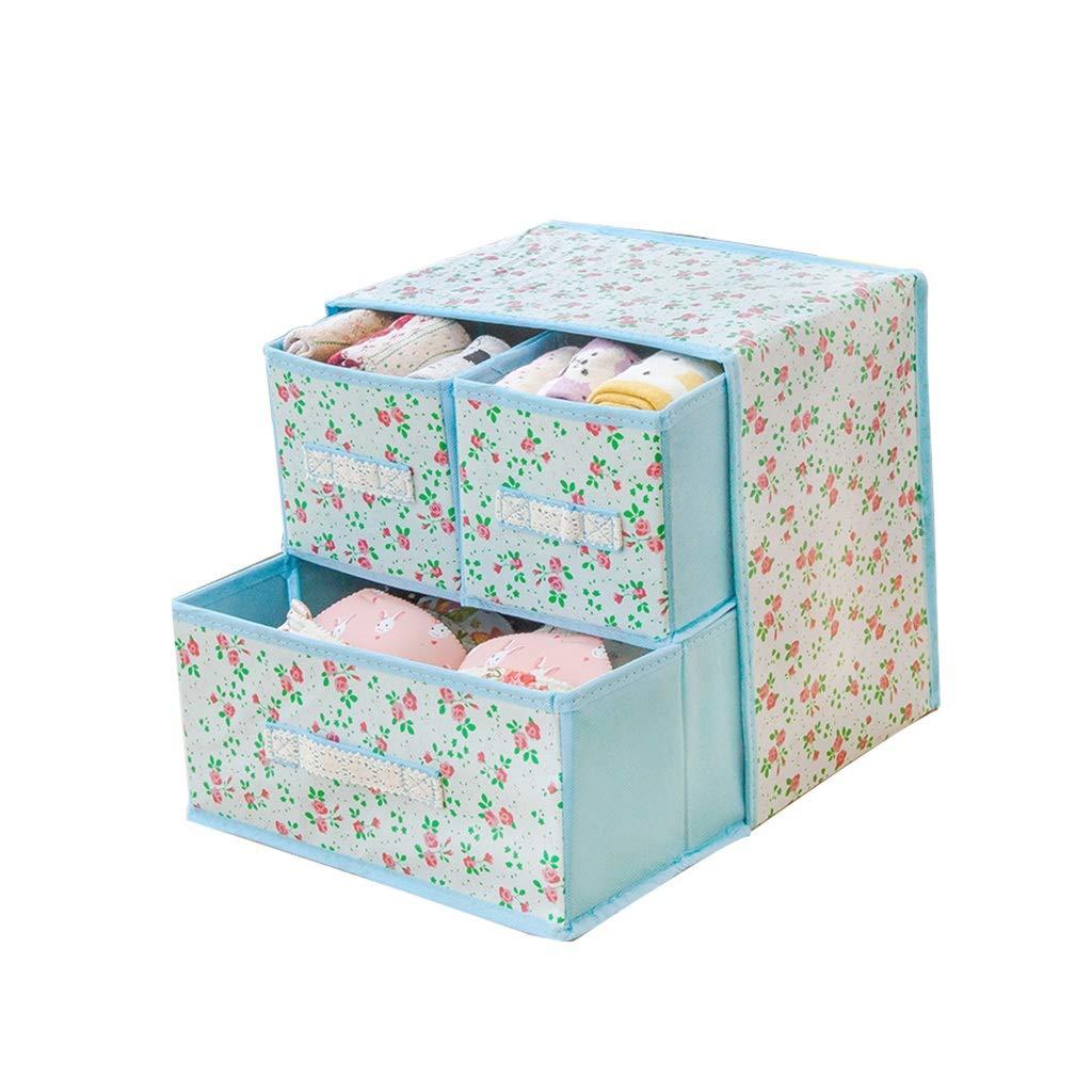 LVAB Caja De Almacenamiento - Caja de almacenaje Gabinete De Guardarropa con 3 Cajones Almacenamiento De Usos Múltiples (Color : B): Amazon.es: Hogar