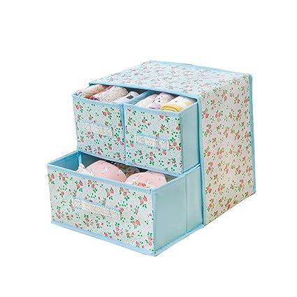 LVAB Caja De Almacenamiento - Caja de almacenaje Gabinete De Guardarropa con 3 Cajones Almacenamiento De