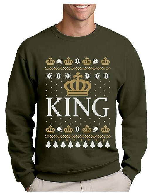 Sudadera para Hombre - Christmas King Papá, Marido, Novio Small Army