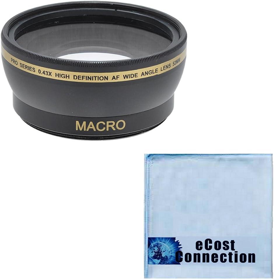 AF-S DX Micro NIKKOR 85mm 3.5G ED VR Lens /& Many Other Lenses Pro Series 52mm 0.43x Wide Angle Lens 55-200mm 4-5.6G ED AF-S DX Autofocus Lens Microfiber Cloth for Nikon 40mm 2.8G AF-S DX Micro-Nikkor Lens