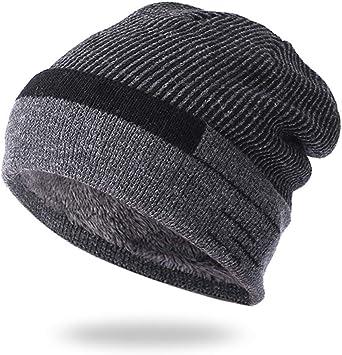 OVINEE Sombrero más Terciopelo Grueso Hombre de Punto cálido otoño ...