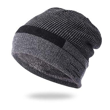 Cebbay Bonnet Homme Femme Chapeau,Bouffant Chic Coton Casquette Chaud  Chapeaux Crâne Épaissir Plate Turban,Hiver Mode Ancien Beanie Hats Headwear  Cap  ... ae5f80dad37